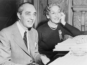 Dorothy Fields & Arthur Schwartz work on score...