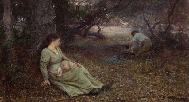 Frederick McCubbin - On the wallaby track - Google Art Project