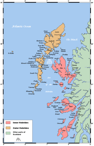 Map showing the Hebrides: Orkney and Shetland,...