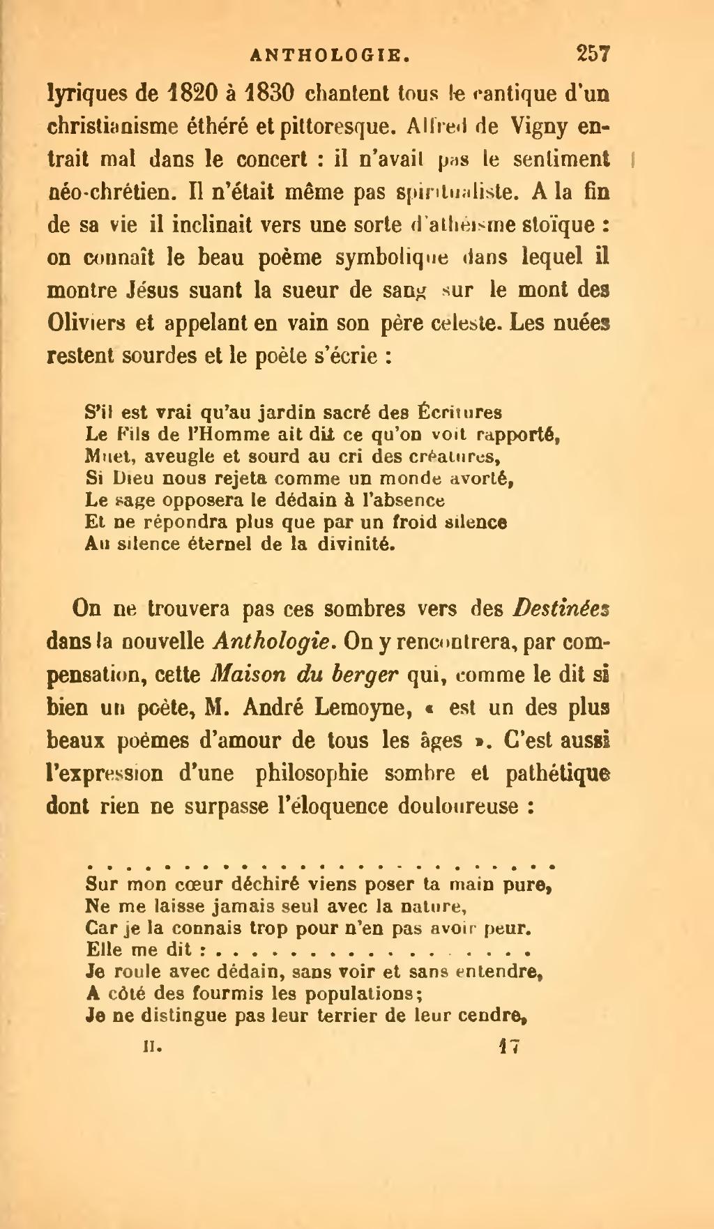 Les Plus Beaux Poemes Sur La Vie : beaux, poemes, Page:La, Littéraire,, II.djvu/283, Wikisource