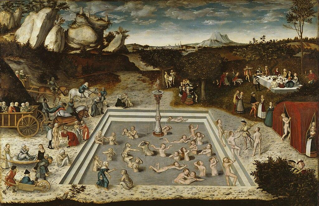 Lucas Cranach - Der Jungbrunnen (Gemäldegalerie Berlin)