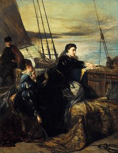 Toby Regbo Mary Storia L'addio di Maria Stuarda alla Francia. Dipinto di Robert Herdman, 1867.