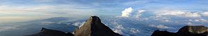 English: Panorama of Mount Kinabalu in Malaysi...