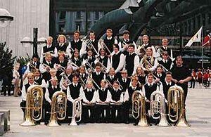 Sveio School band at the Norwegian Championshi...
