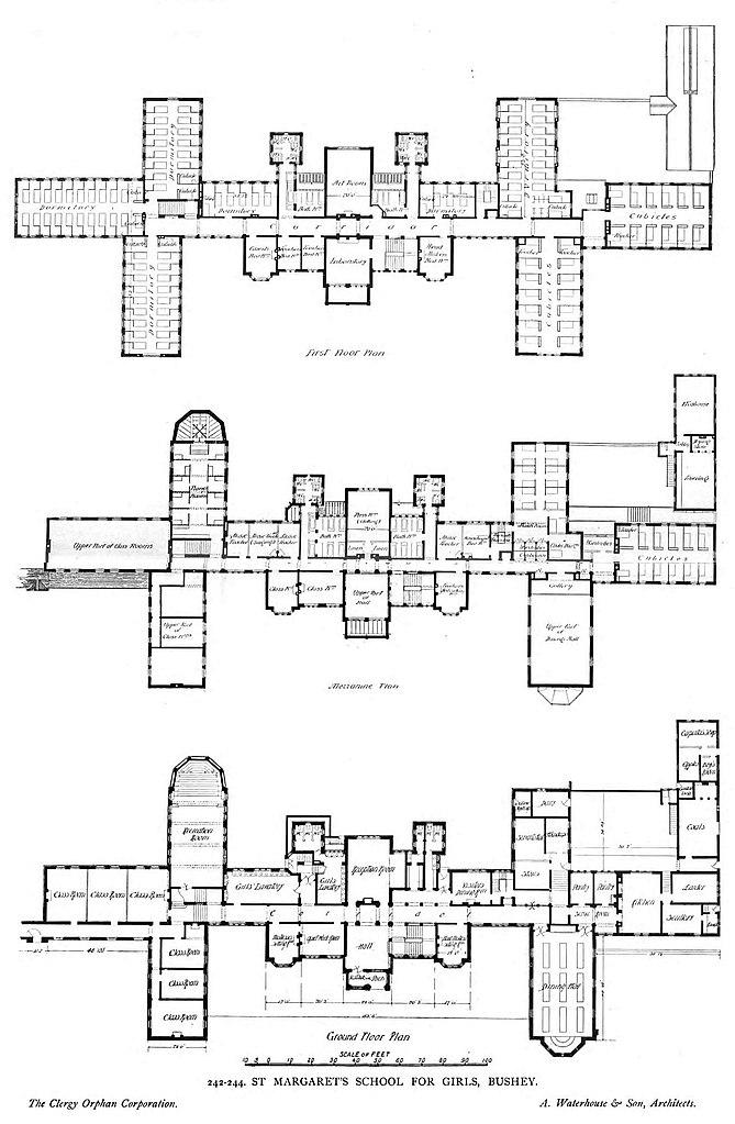 File:Plan by Alfred Waterhouse for St. Margaret's School
