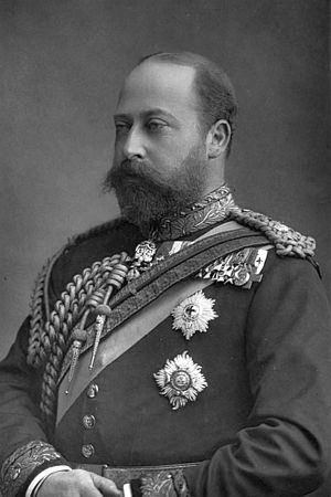 English: The Prince of Wales (later King Edwar...