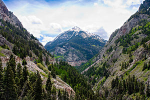 Uncompahgre Gorge and Mount Abrams between Sil...