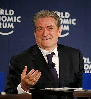 English: Sali Berisha, Prime Minister of Alban...