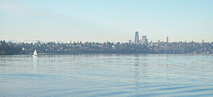 Seattle as seen across Puget Sound