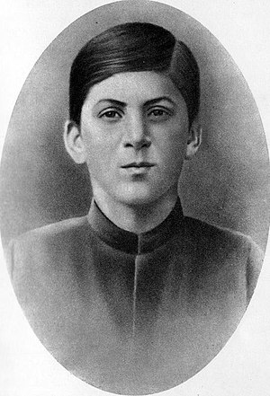 Young Stalin, circa 1894, age 16, and Ioseb in...
