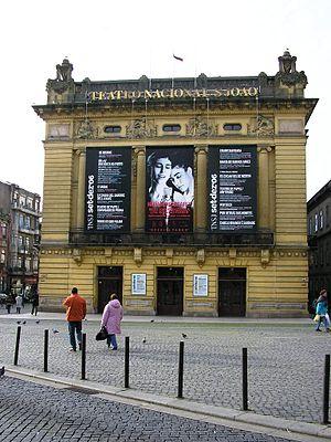 """São João"" national theatre in Porto..."