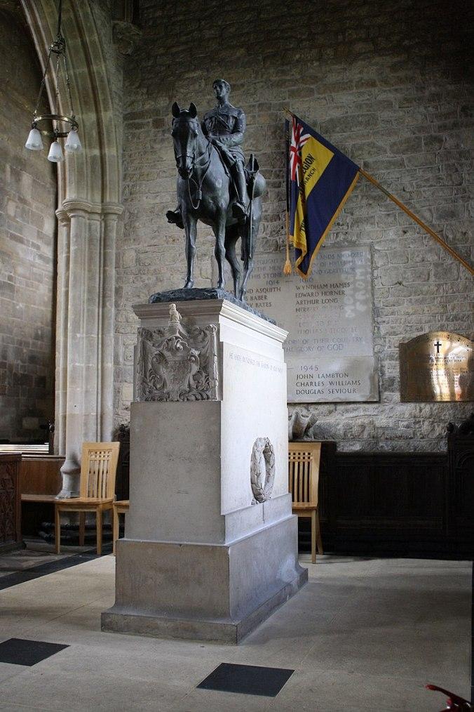 The Monument to Edward Horner in Mells Parish Church (6022216545).jpg