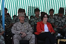 US-Egypt Bright Star exercise in 2009. Sisi was sitting on the left back seat.