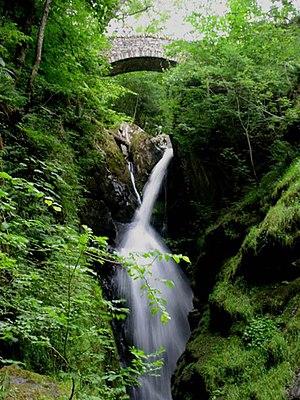 English: Waterfall Aira Force: National Trust....