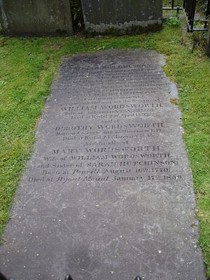 Photograph of the gravestone of William Wordsw...