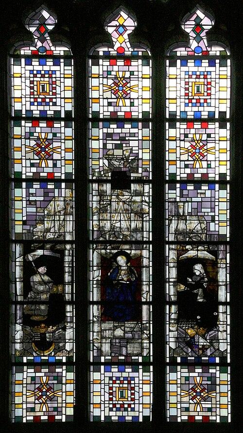 Angers - Chateau - Vitrail dans la chapelle - 20080921