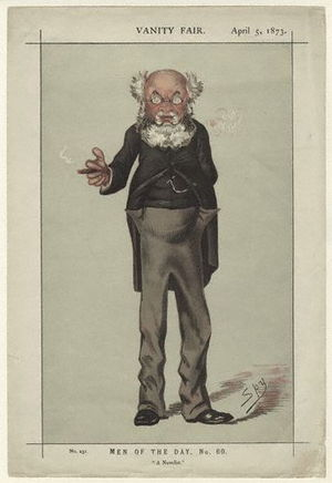 Caricature of Anthony Trollope. Caption read &...