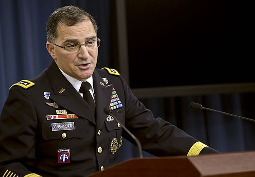 Army Gen. Curtis M. Scaparrotti, commander of U.S. Forces Korea, briefs reporters at the Pentagon 141024-D-NI589-260c