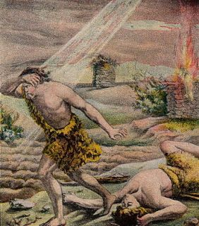 English: Cain and Abel; as in Genesis 4; illus...
