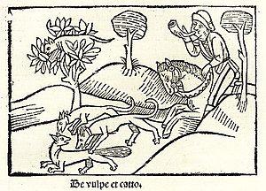 English: Steinhowel's illustration of the fabl...