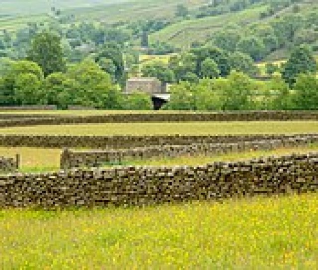 Dry Stone Walls In The Yorkshire Dales England