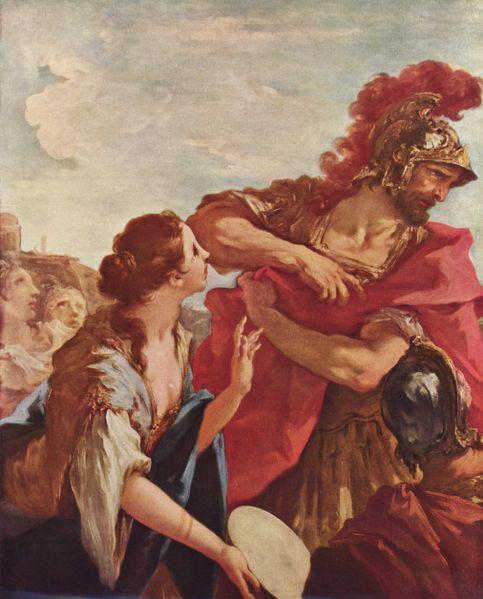 El regreso de Jefté, de Giovanni Antonio Pellegrini.