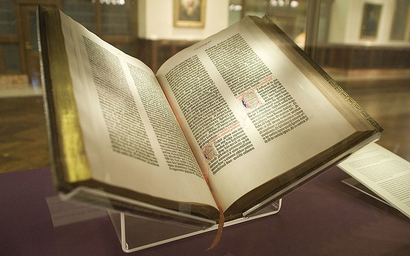 File:Gutenberg Bible, Lenox Copy, New York Public Library, 2009. Pic 01.jpg