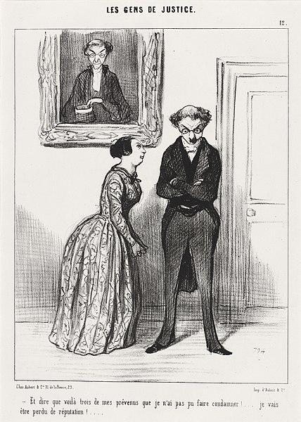 Je N Ai Pas Pu : File:Honoré, Daumier,, Voila, Trois..., Prévenu, Faire, Condamner!...,, 1845,, 42579.jpg, Wikimedia, Commons