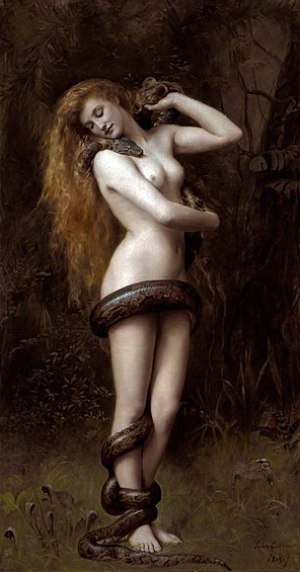 Lilith (1892) by John Collier in Southport Atk...