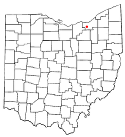 Location of Middleburg Heights in Ohio