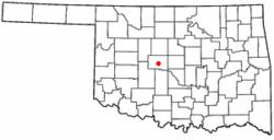 Location Of El Reno Oklahoma