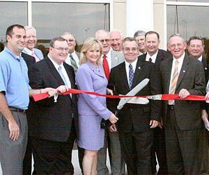 Oklahoma Governor Mary Fallin at the ribbon cu...