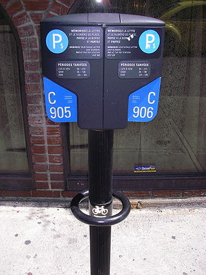 """Montreal Parking """"meter"""" with bicycl..."""