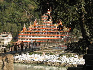 Lakshman Jhula, on the banks of Ganga, Rishike...