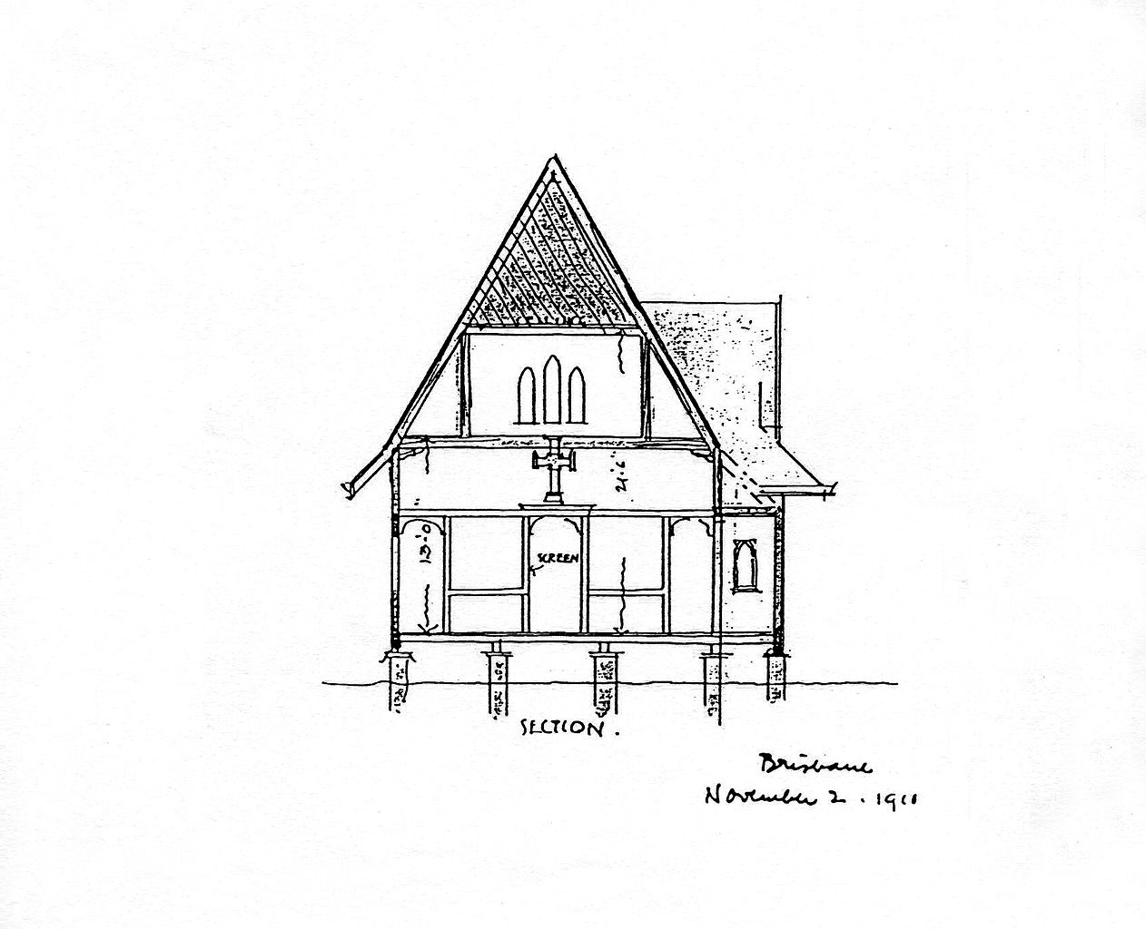 File:Robin Dods' architectural drawing of St. Andrew's