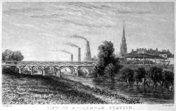 Rotherham Station in 1840