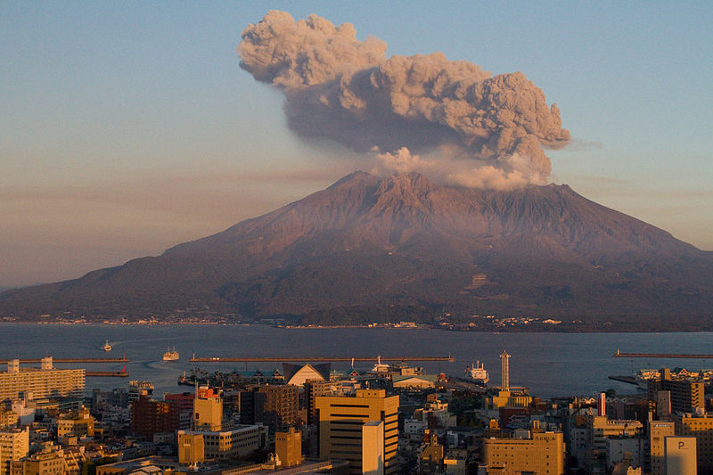 File:Sakurajima at Sunset.jpg
