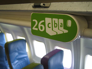 A seat graphic on a Song airplane.