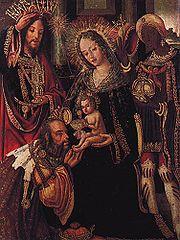 La Navidad celebra el nacimiento de Cristo. La Adoración de los Magos por Vicente Gil.