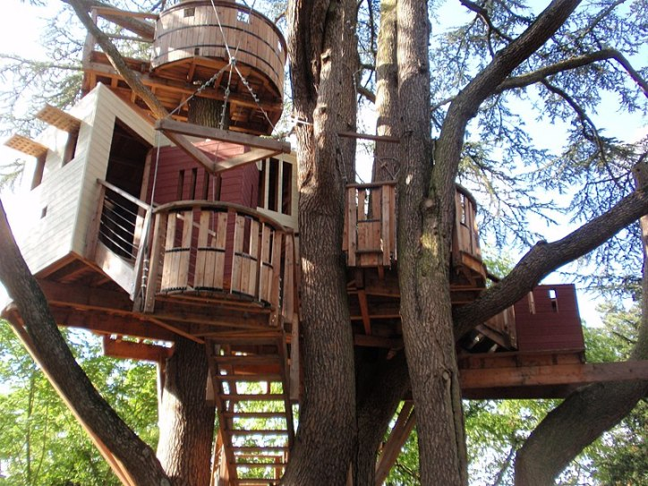 Awesome Tree Houses Geometric Architecture Treehouse with Stairs Multiple Rooms