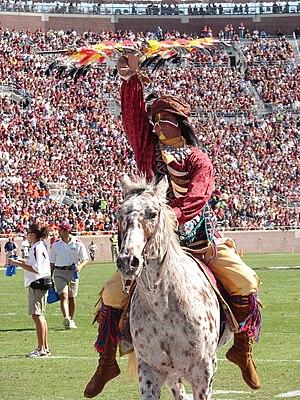Chief Osceola and Renegade, mascot for Florida...