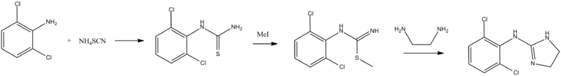 Clonidine synthesis.png