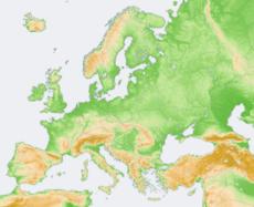 Topograf�a de Europa