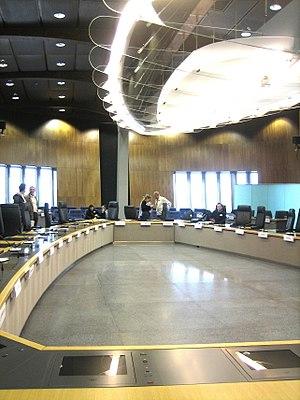 English: Main meeting room of the European Com...