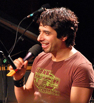 Jian Ghomeshi hosting a live taping of his rad...