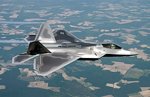 The F-22 Raptor fifth generation