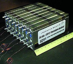 NASA Prototype Lithium-Ion Polymer Battery. Re...