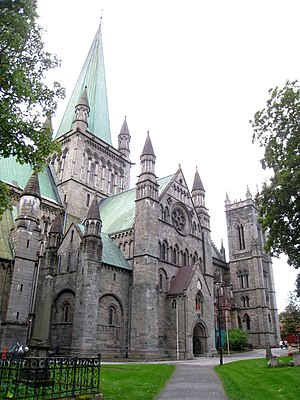 Nidaros Cathedral, Trondheim, Norway.