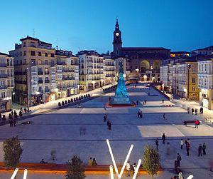 Español: Plaza Virgen Blanca VITORIA-GASTEIZ t...
