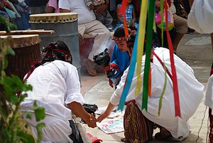 English: Purification ritual at the Feast of t...